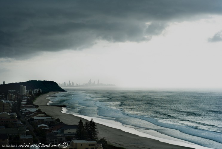 Storm brewing over the Gold Coast