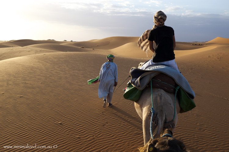 Heading off to trek the Erg Chebbi dunes