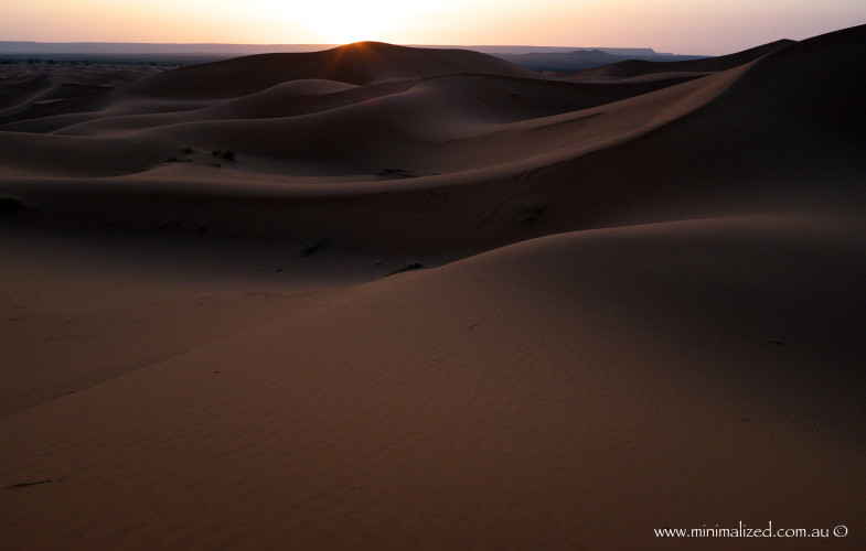 Sunrise in the Erg Chebbi dunes