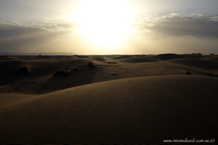 Sunset over the Erg Chebbi dunes